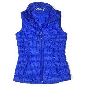 Athleta Womens Down Fill Quilted Vest Blue XS